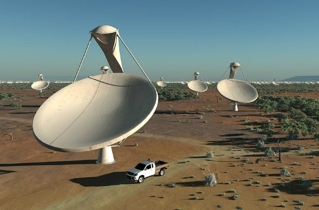 Artist's impression of the 15m x 12m antennas within the central core of the Square Kilometre Array.