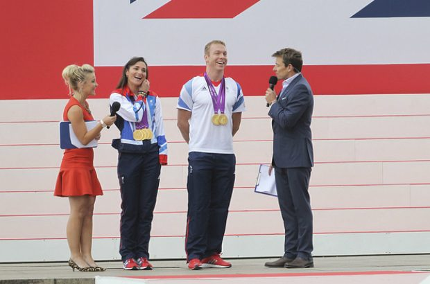 Sir Chris Hoy and Sarah Storey OBE Olympic Champions