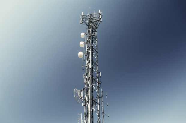 A radio communications mast