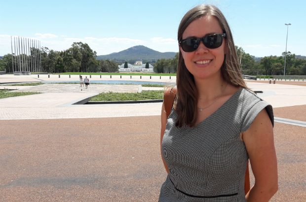 Cate Setterfield outside Parliament House, Canberra