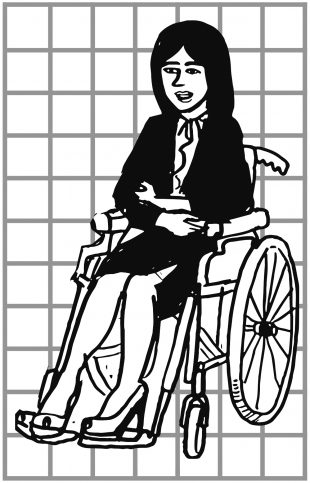 Women in wheelchair