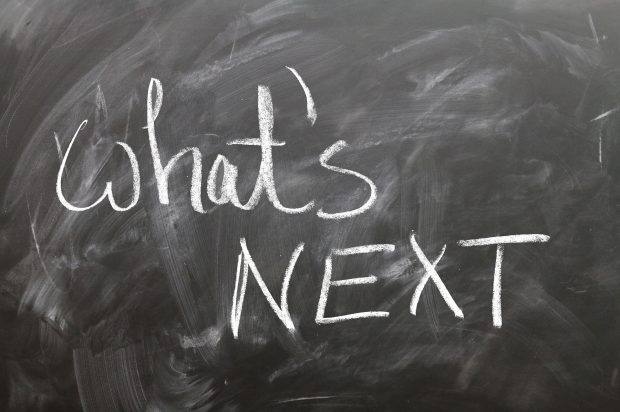 ''What's NEXT'' written on blackboard