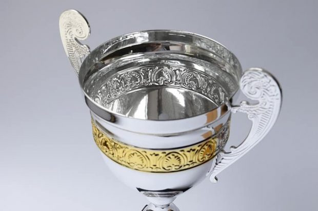 Image shows a silver trophy