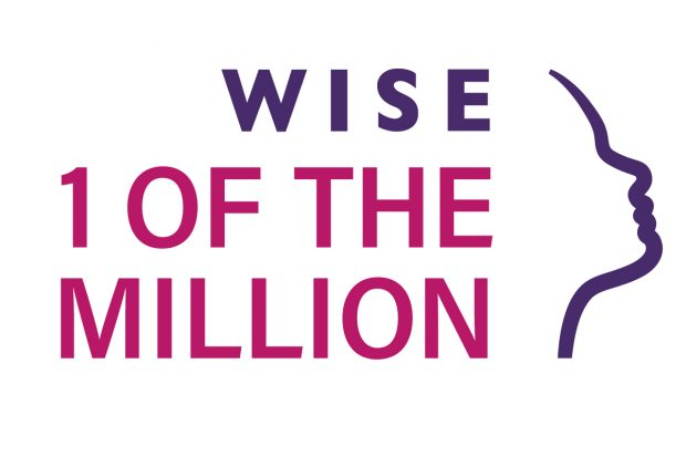 "Image shows a face with the logo "" WISE 1 of the million"""